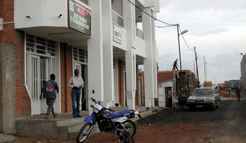 Achille in front of the CIDOPY office in Goma